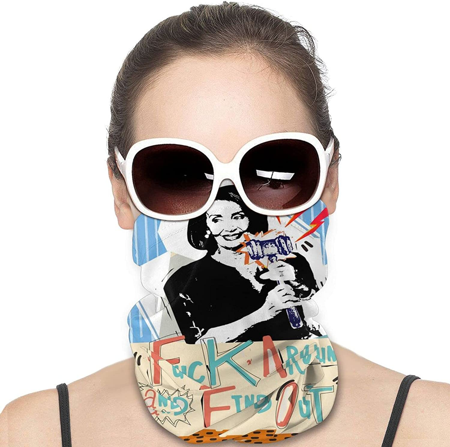 Fuck Nancy Pelosi Round Neck Gaiter Bandnas Face Cover Uv Protection Prevent bask in Ice Scarf Headbands Perfect for Motorcycle Cycling Running Festival Raves Outdoors