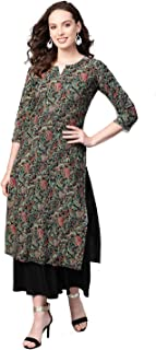 Vaamsi Cotton Printed Kurti(VCK1312_Multicolored_Free Size)