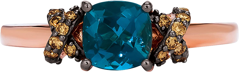 LeVian 14K Rose Gold Gemstone 1 Cttw Max half 47% OFF Chocolate S Diamond X 10