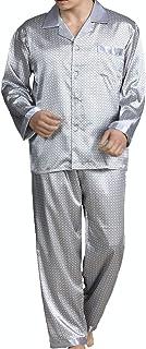Men's Sleepwear Satin Pyjama Set Nightwear Loungewear-Men's Pyjama Sets