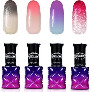 Perfect Summer Changing Color Gel Nail Polish 4PCS Soak Off UV LED Temperature Change Color Gel Nail Varnish 8ML #016