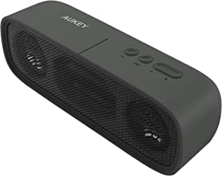 Aukey SK-M7 Bluetooth Portable Wireless Speaker with Stereo Dual-Driver and 12 Hours Playtime - Black