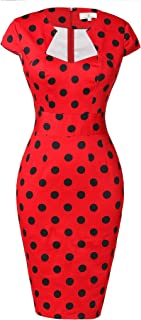 Best red dress with black dots Reviews