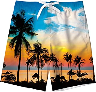 Idgreatim Ragazzi Pantaloncini da Spiaggia Costume da Bagno novità Asciugatura Veloce con Fodera in Mesh 5-16 Anni