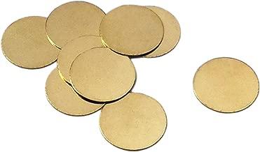 100 Brass Round 5/8 Inch Metal Stamping Blanks 16mm Diameter Circle Brass Discs