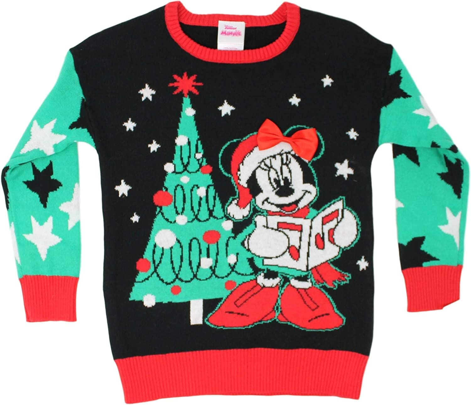 NWT Disney Store 2018 MINNIE MOUSE Holiday Christmas Sweater Girl Size 2