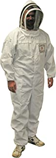 Mann Lake CV115 Cotton/Polyester Honey Maker Bee Suit with Veil, White, Large
