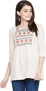 EVALONA Women's Cotton Straight Kurta