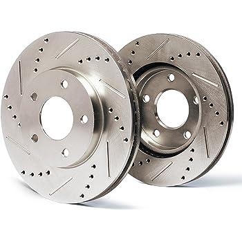 Max Brakes Rear Premium XDS Rotors and Ceramic Pads Brake Kit KT073732-4