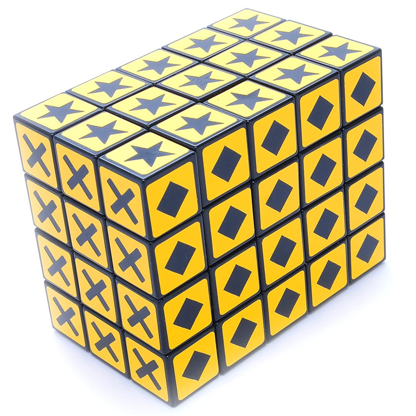 MF8 3x4x5 Color Blind Cuboid Sticker Mod Twisty Puzzle Cube Toy