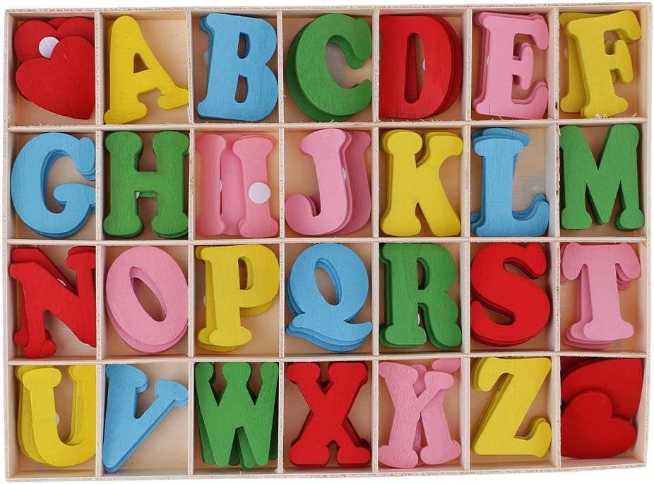 Bonarty 112 Pieces Adhesive Wooden with Storage Challenge the lowest price of Japan Letters Alphabet New product! New type