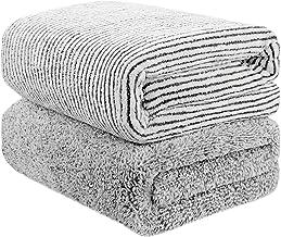 Toallas de baño de bambú, gran tamaño de 140 cm x 74 cm, toalla de microfibra para el cuerpo, juegos de toallas para limpi...