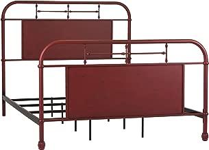 Liberty Furniture Industries Vintage Series Metal Bed, Queen, Burgundy