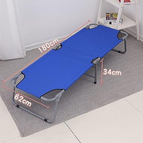 Bureau lit pliant lit simple siesta siesta lit simple tissu lit camping lit lit d'accompagnement 180  62  34 cm ( Couleur   bleu )