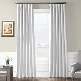HPD HALF PRICE DRAPES BOCH-PL1611-84 Bellino Blackout Room Darkening Curtain, 50 X 84, Swiss Coffee