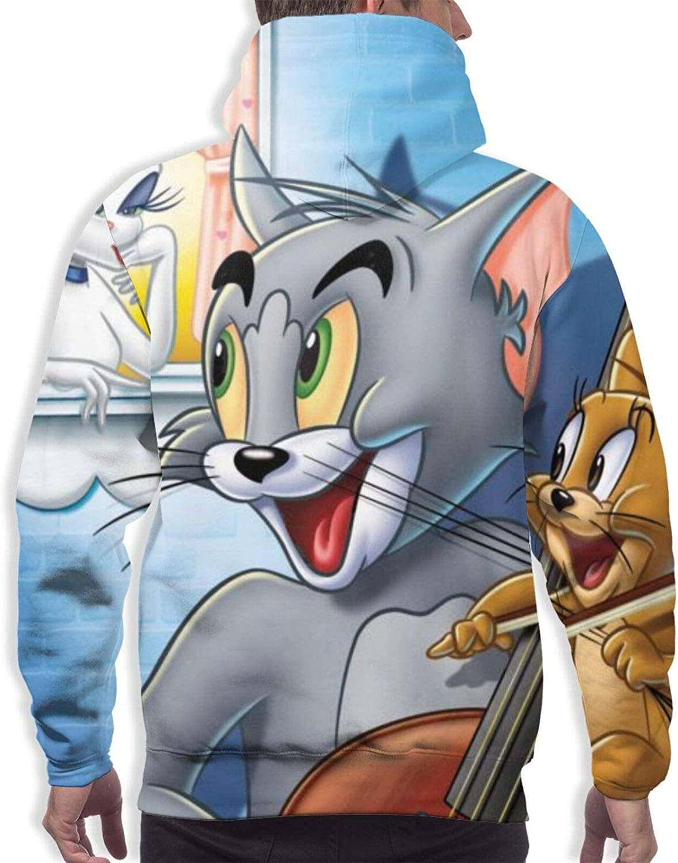 Amazon.com: Tom And Jerry L Men'S Hoodie Sweatshirt Cozy Sport Outwear  Pullover Sweatshirt: Clothing