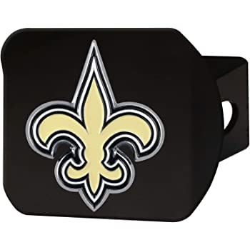 Chrome 2 Square Type III Hitch Cover FANMATS NFL New Orleans Saints Metal Hitch Cover
