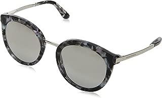 Dolce and Gabbana DG4268 31326V Cube Black/Silver DG4268 Round Sunglasses Lens
