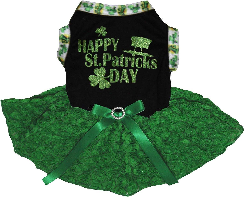 Patrick/'s Day Dog Dress Lucky Lady Shamrock Dog Dress Clover Dog Dress Dog Tutu Holiday Dog Dress Prettiest Pets! Size XS St Ready To Ship