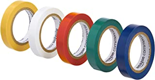 AmazonCommercial Electrical Tape, 1/2-inch by 6.66-yard, Multi-Color, 20-Pack