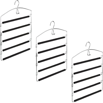 Cintre pour pantalon 5 niveaux en métal et PVC Tendance Maison
