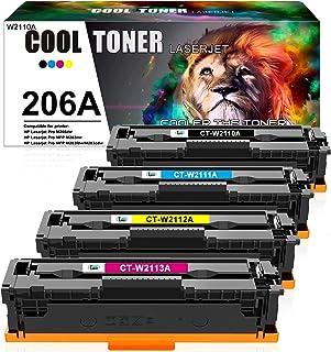 Cool Toner Compatible Toner Cartridge Replacement for HP 206A 206X W2110A W2111A W2112A W2113A Color Laserjet Pro M255dw M...