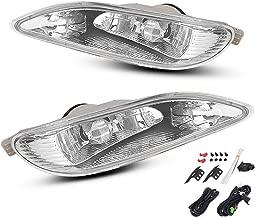 AUTOSAVER88 Fog Lights 9006 12V 55W Halogen Lamp Clear Lens w/Bulbs For Toyota Camry 2002-2004 Corolla 2004-2008 Solara 2002-2003