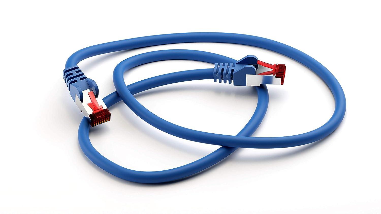 10m Goobay 92763 CAT 6 Kabel Lan Netzwerkkabel f/ür Gigabit Ethernet S-FTP doppelt geschirmtes Patchkabel mit RJ45 Stecker Wei/ß