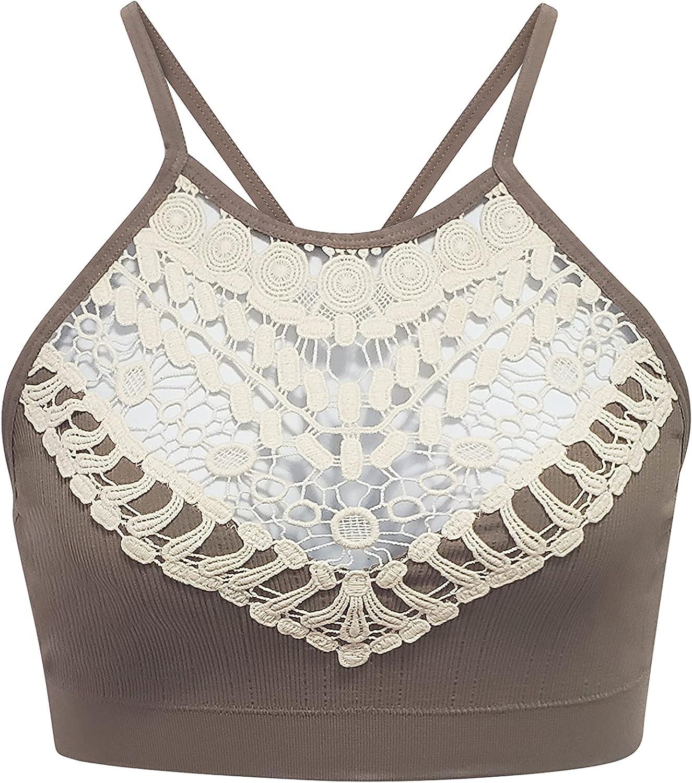 Women's Bohemian Style Crochet Lace Design Bralette Regular Size Plus Size