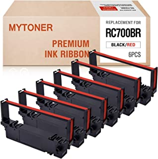 MYTONER Compatible with Ribbon Cartridge Replacement for Star RC700BR RC-700BR SP700 SP-700 SP712 SP 712 MD SP742 POS Printer Ribbon(Black Red, 6-Pack)
