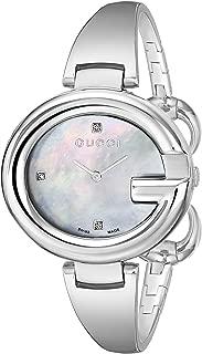 Guccissima Diamond-Accented Stainless Steel Bangle Women's Watch(Model:YA134303)
