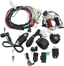 ApplianPar Electrics Start Engine CDI Ignition Coil Wiring Harness Kit CDI Wire Spark Plug Assembly for 4 Stroke ATV KLX 50cc 70cc 110cc 125cc Go Kart Quad Bike Buggy