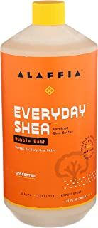 Alaffia EveryDay Shea Bubble Bath Unscented, 32 Oz | Soothing Support for Deep Relaxation and Soft Moisturized Skin | Made...