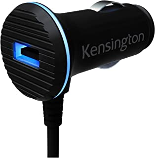Kensington PowerBolt 3.4A Dual USB Car Charger with Lightning Cable for iPhone 6, 6 Plus, 5 and iPad Air 2, Air or iPad Mini 3 - Retail Packaging - Black