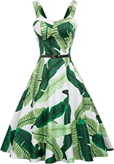 Belle Poque Homecoming 1950s Retro Vintage Sleeveless V-Neck Flared A-Line Dress BP416