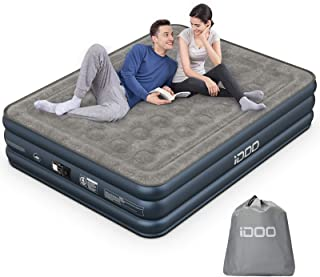 iDOO Queen Size Air Mattress, Inflatable Airbed with Built-in Pump, 3 Mins Quick Self-Inflation/Deflation, Comfortable Top...