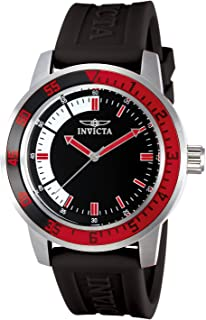 Invicta 12845 Watch Men's Specialty Black Dial with Red/Black Bezel