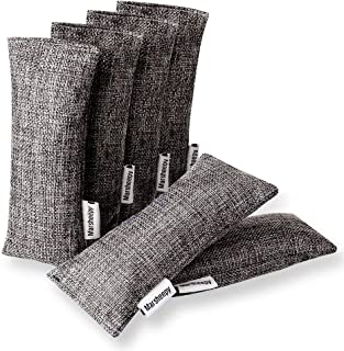 Marsheepy 6 Pack Natural Bamboo Charcoal Air Purifying Bags, Shoe Deodorizer and Odor Remover, 100% Natural Car Odor Eliminator