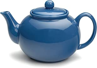 RSVP International Large Stoneware 6-Cup Teapot, Light Blue, 48 oz