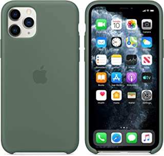iPhone 11MaxPro Silicone Case for iPhone 11Pro Max(6.5 inch) Gel Rubber Shockproof Cover with Microfiber Cloth Lining Cushion, Boxed- Retail Packaging (Pine Green)