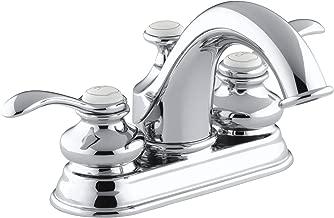 KOHLER K-12266-4-CP Fairfax Centerset Lavatory Faucet, Polished Chrome