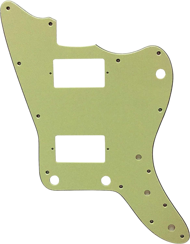 For Japan Jazzmaster PAF Pickups Guitar Pickguard 3 Ply Vintage Green