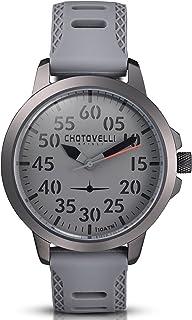 Chotovelli Men's Aviator Watch- Analog Display, Sandwich dial, Grey Army Band 33.03