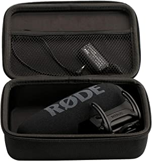Compatible for RODE VideoMic Pro on Camera Microphone - EVA Hard Protective Case Carrying Pouch Microphone Case for VideoMic Pro Plus Shure VP83 LensHopper