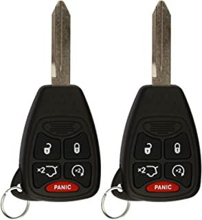 KeylessOption Keyless Entry Remote Control Uncut Car Key Fob Replacement for OHT692427AA KOBDT04A (Pack of 2)