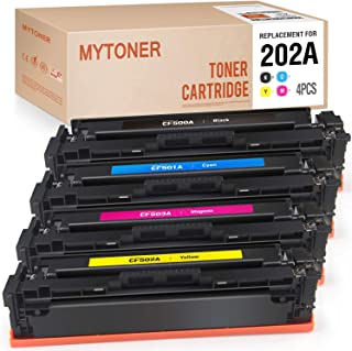 MYTONER Compatible Toner Cartridges Replacement for HP 202A CF500A 202X CF500X Toner for Color Laserjet Pro MFP M281fdw M281cdw M281dw M254dw M280 M281 Printer Ink (Black Cyan Magenta Yellow, 4P)