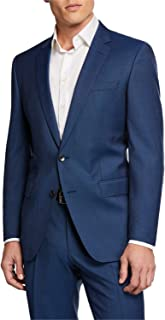 3d17e9f8cdb Hugo Boss Men s Slim Fit Super 120 s Stretch Tailoring Blue Suit