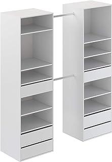 Marque Amazon -Movian - Armoire 2colonnes Idro Modern, 48 x 177 x 200, Blanc