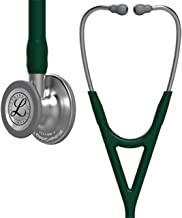 3M Littmann Cardiology IV Diagnostic Stethoscope, Standard-Finish Chest Piece, Hunter Green Tube,  Stainless Stem and Headset, 27 Inch, 6155