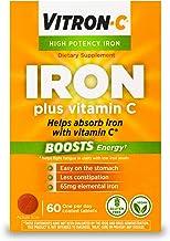 مکمل آهن با قدرت بالا Vitron-C با ویتامین C   60 تعداد